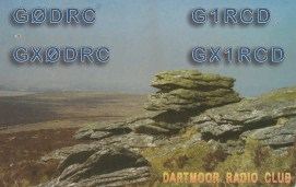 Dartmoor Radio Club QSL card