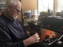 Bryan fixing a radio